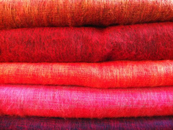 Soft shawls - red tones