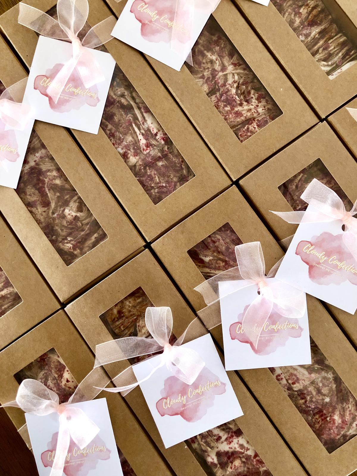 Raspberry Chocolate Marshmallow Gift Boxes