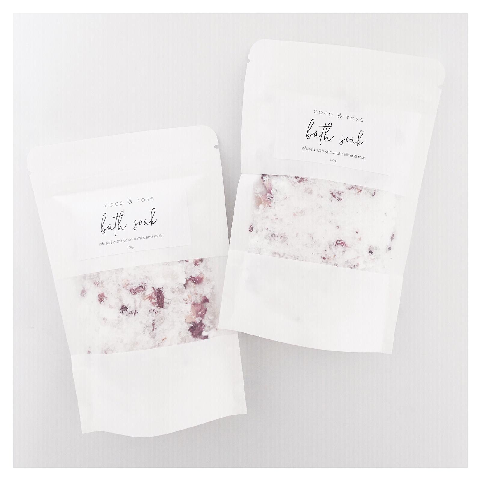 Coconut milk & rose infused bath soak