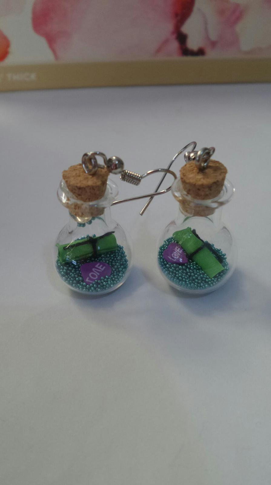 Bottle earrings