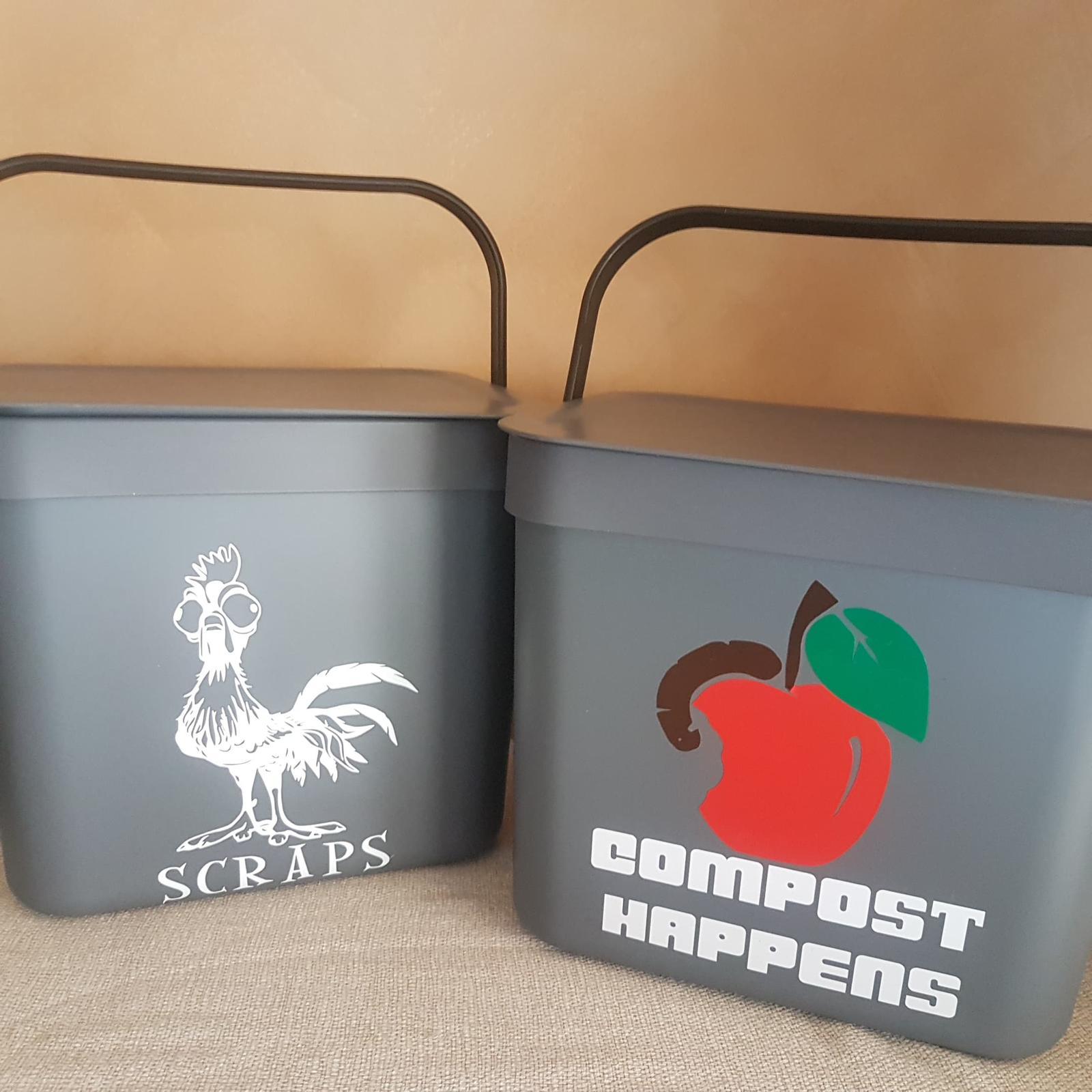 Chook scraps and compost bins