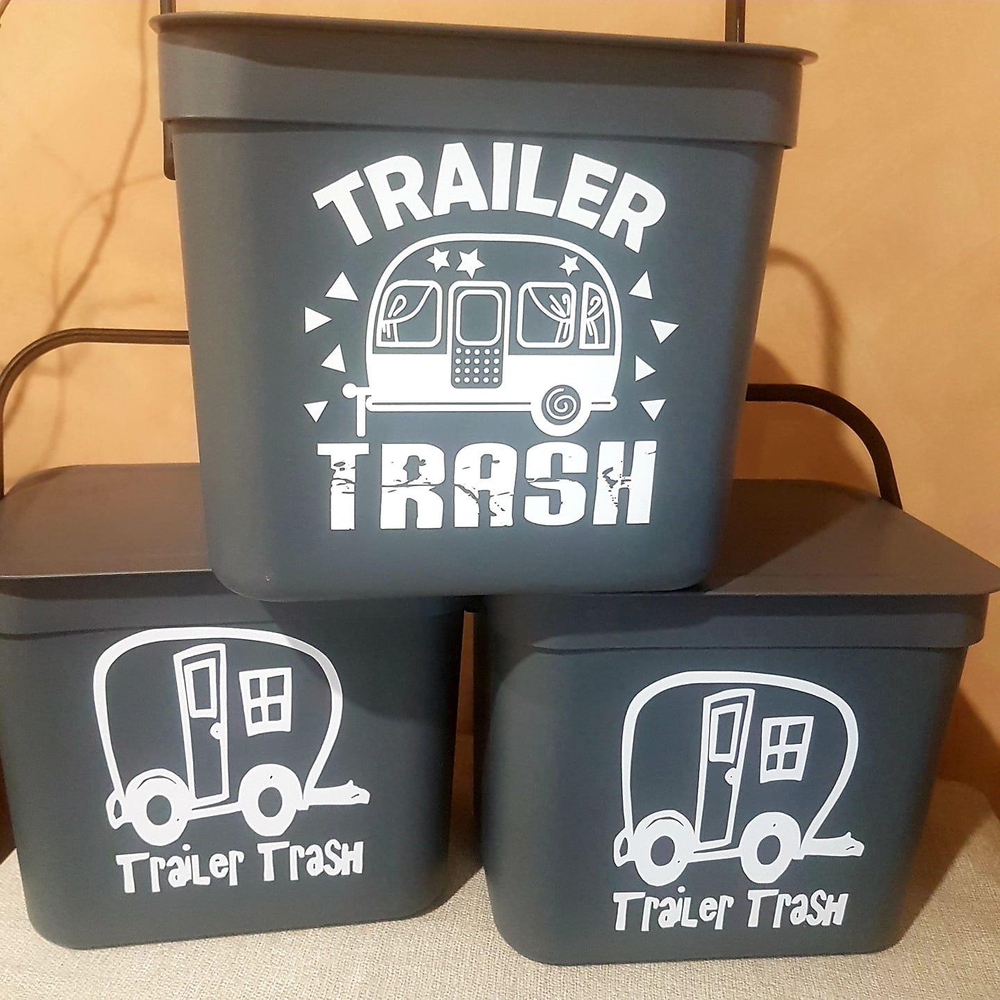 Trailer trash bins