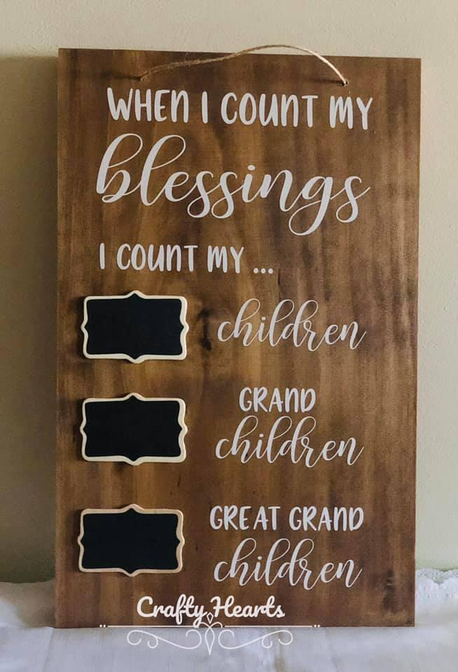 Grandparents count blessings sign