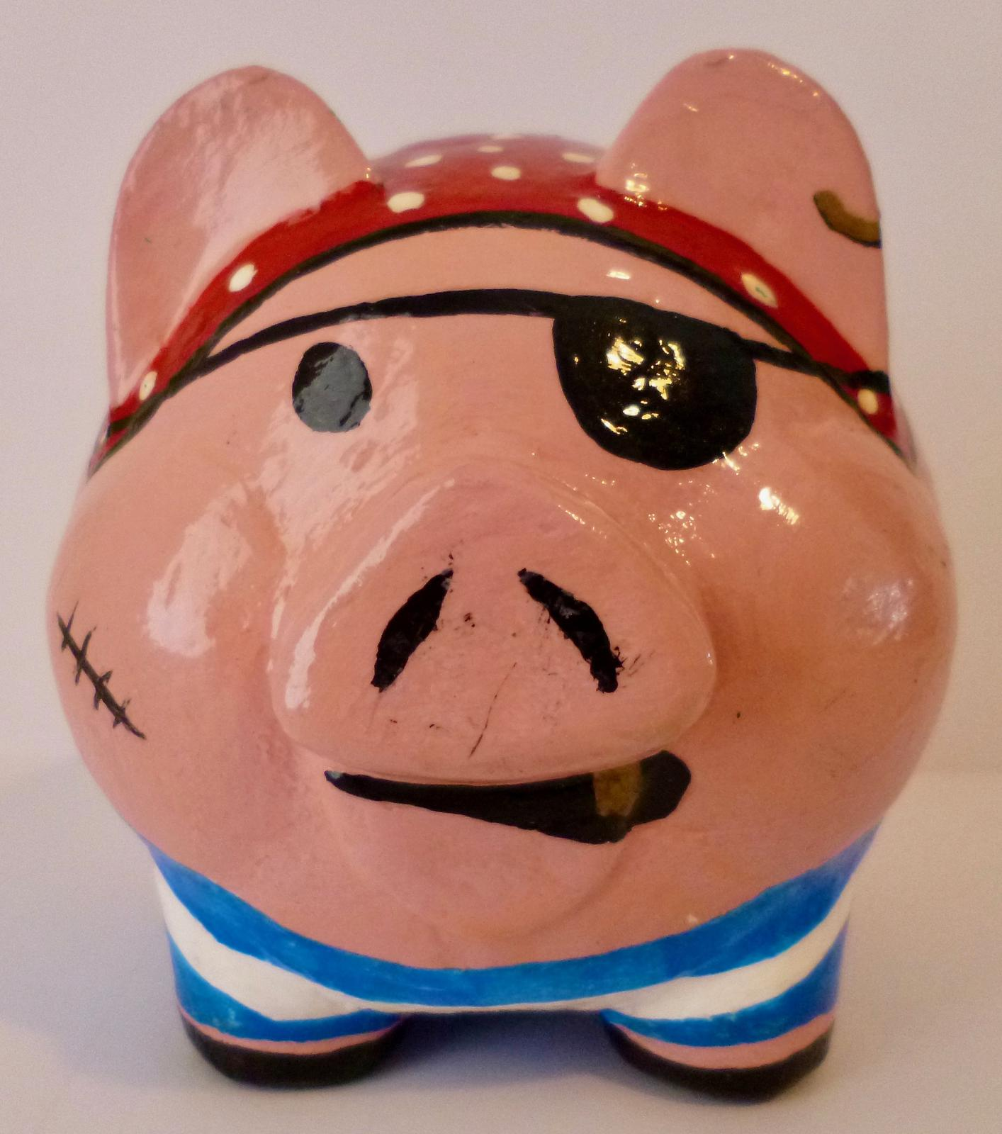Pirate piggy bank