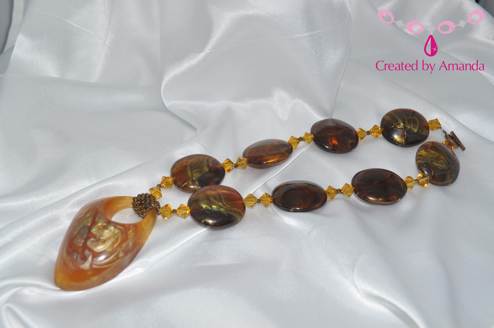 Resin & Swarovski Necklace