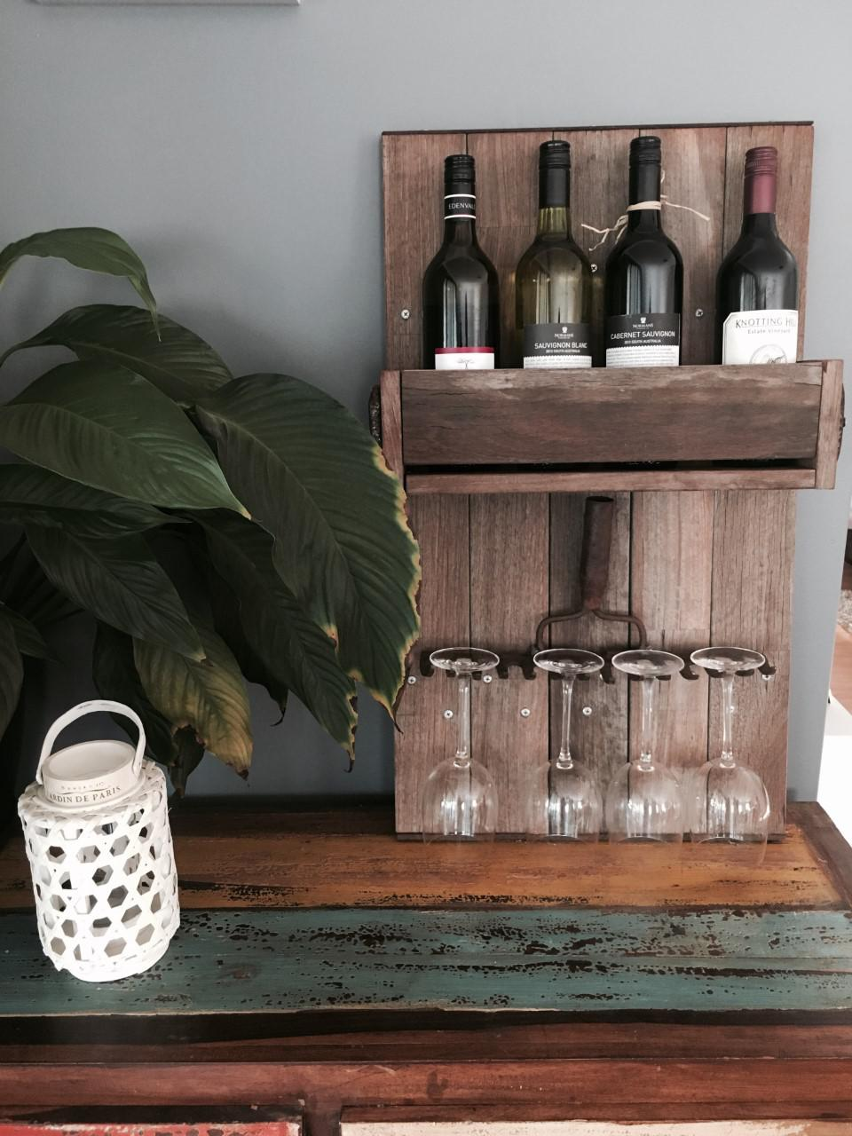 Creative Metal Concepts Vintage Wine Rack