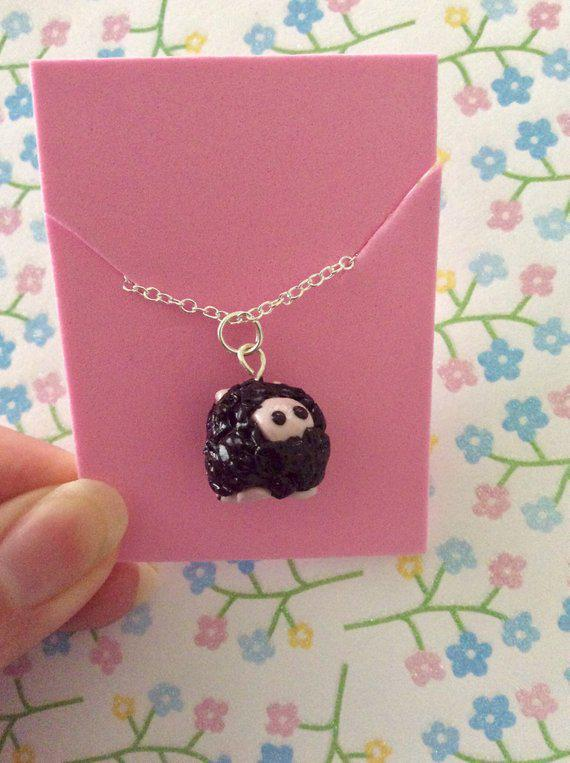 Black Sheep Polymer Clay Necklace