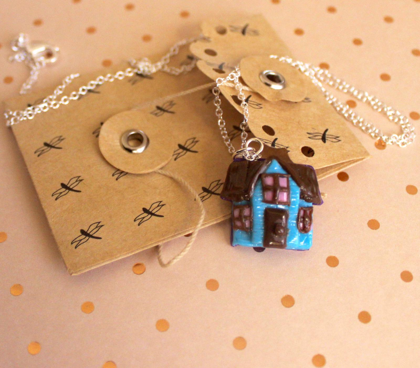 Blue House Necklace