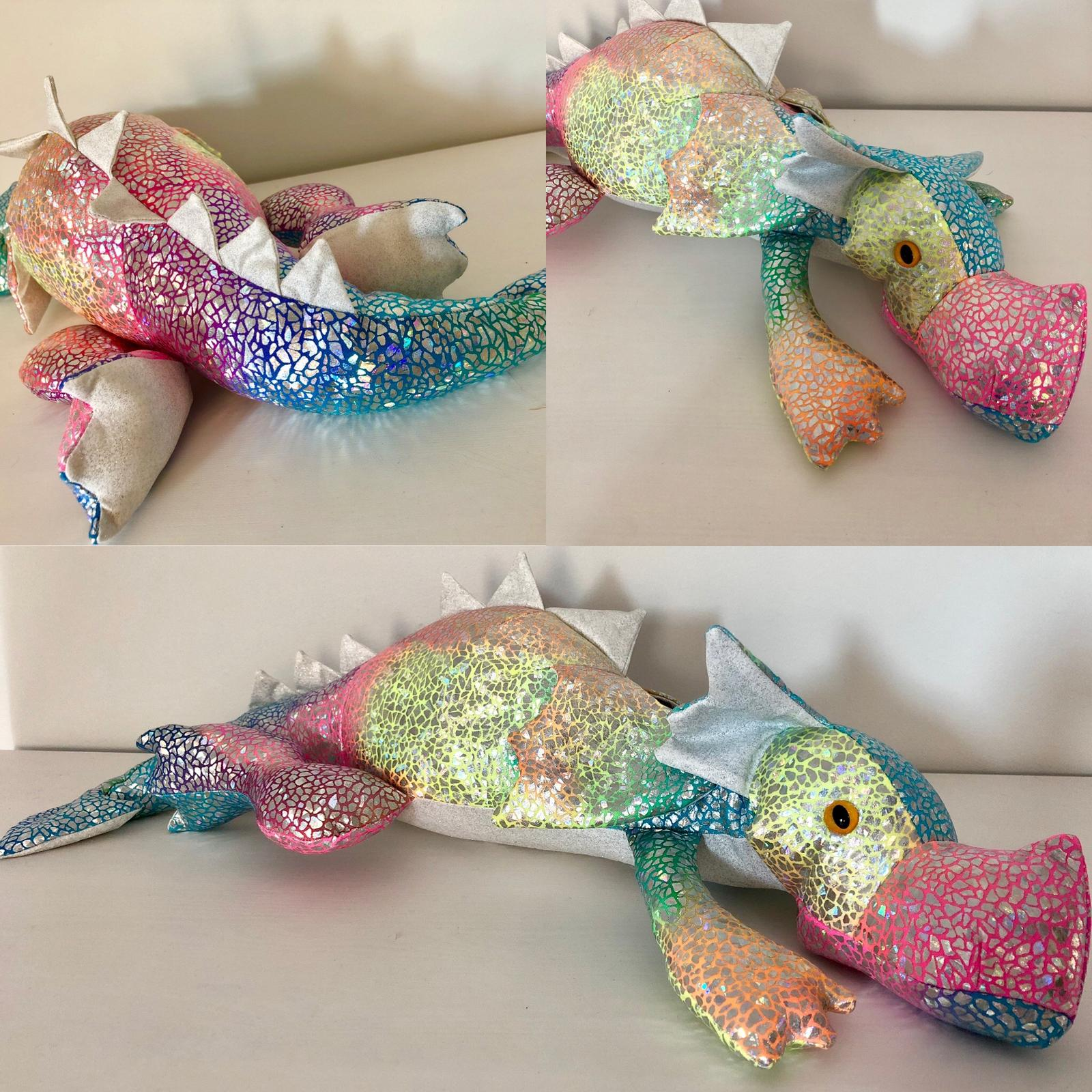 Rainbow glitter dragon