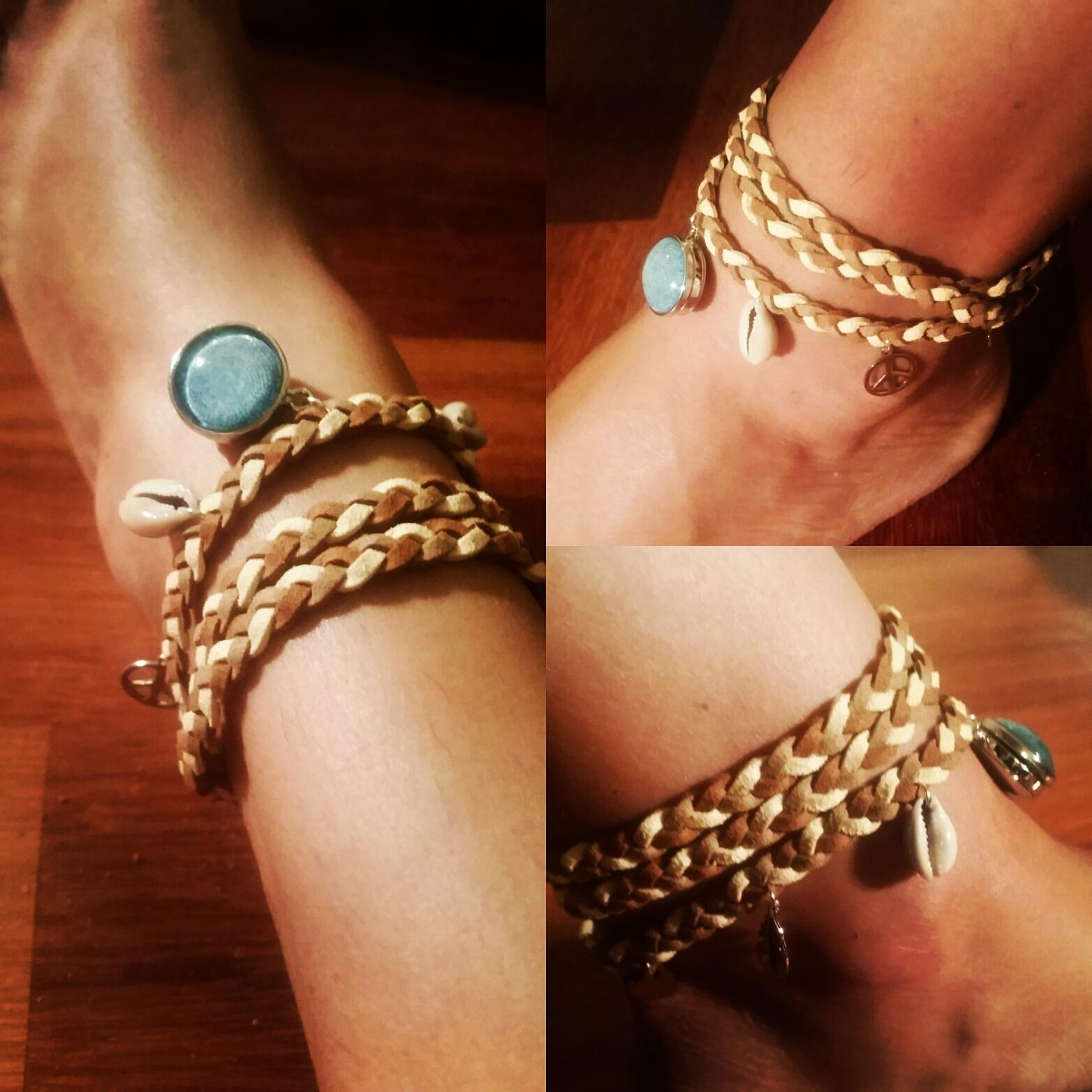 faux suede anklet