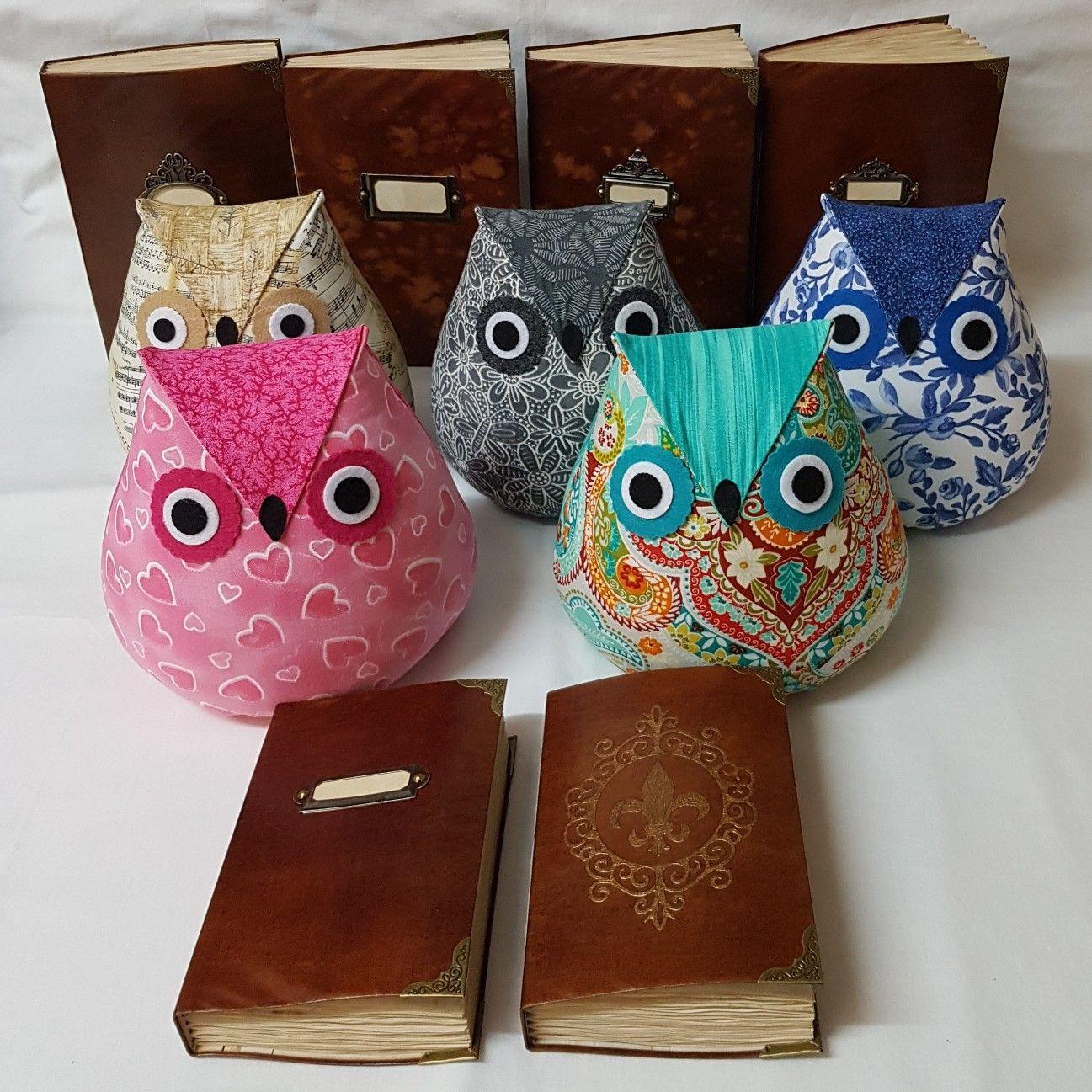 Leatherlook journals and Owl Doorstops