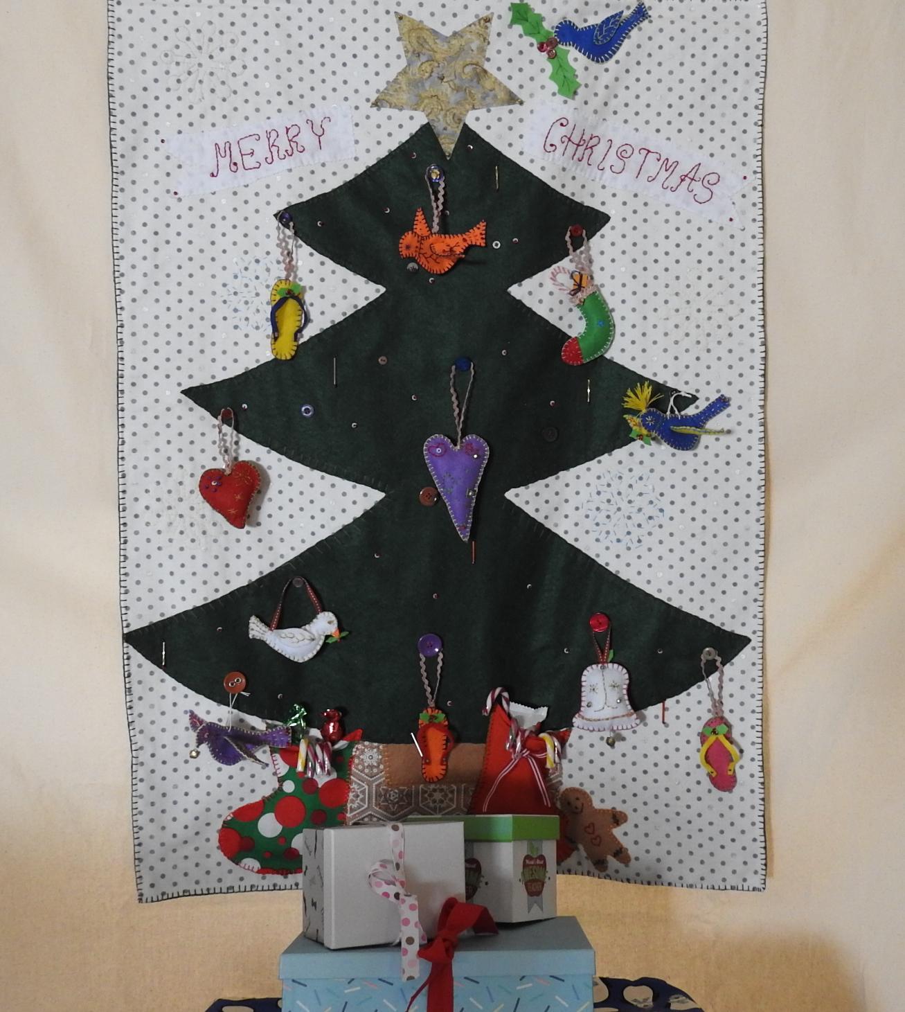 Hand made Christmas wall hanger