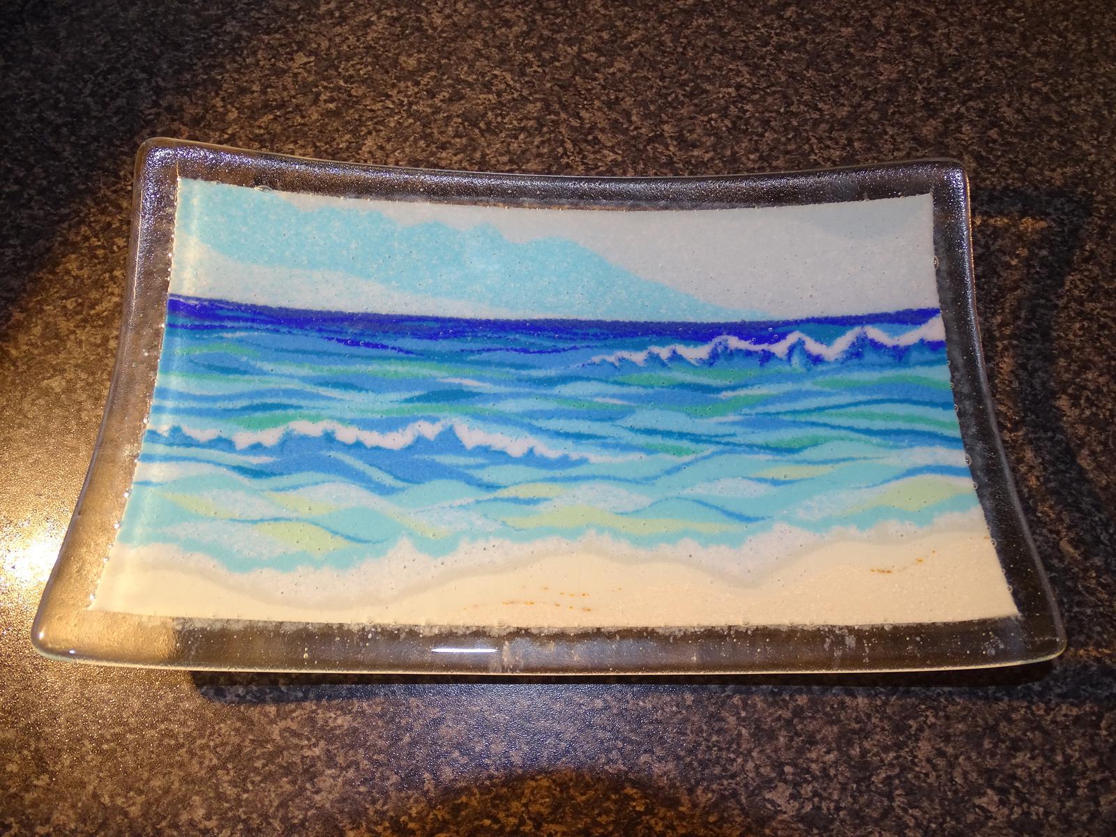 Landscape glass platter