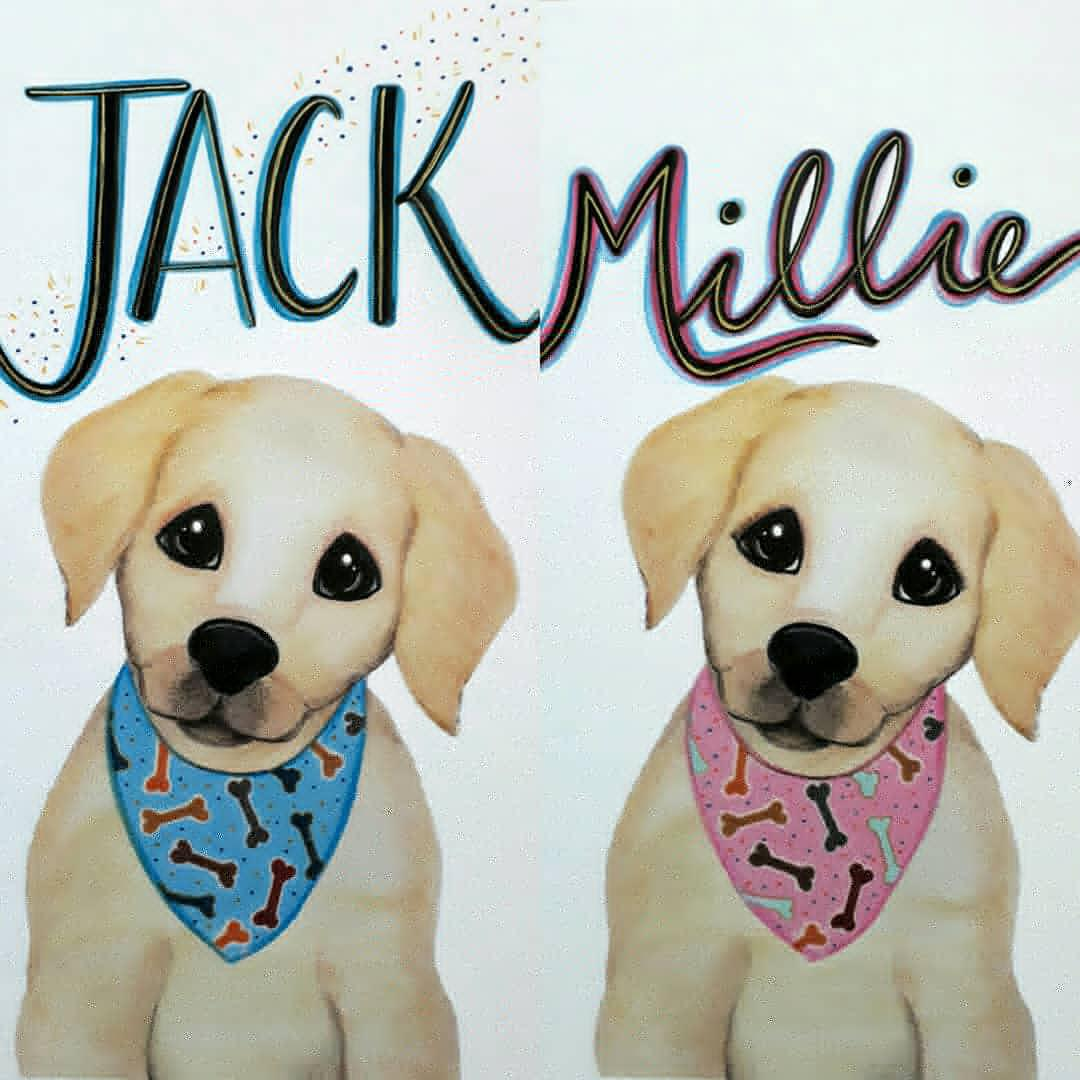 Personalised Boy and Girl Puppies