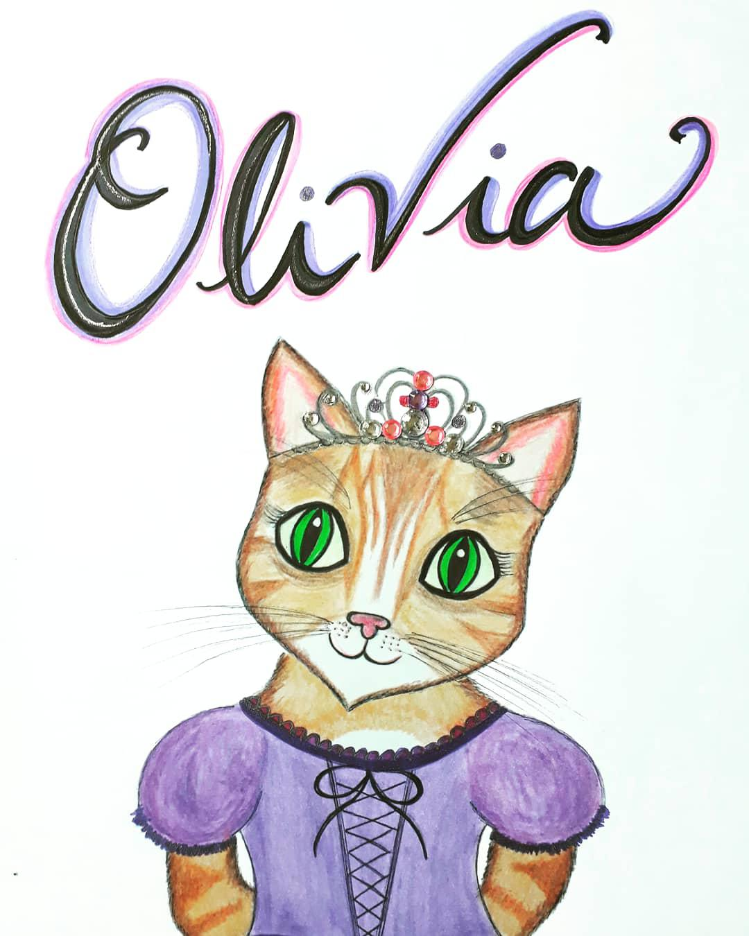 Personalised Princess Cat