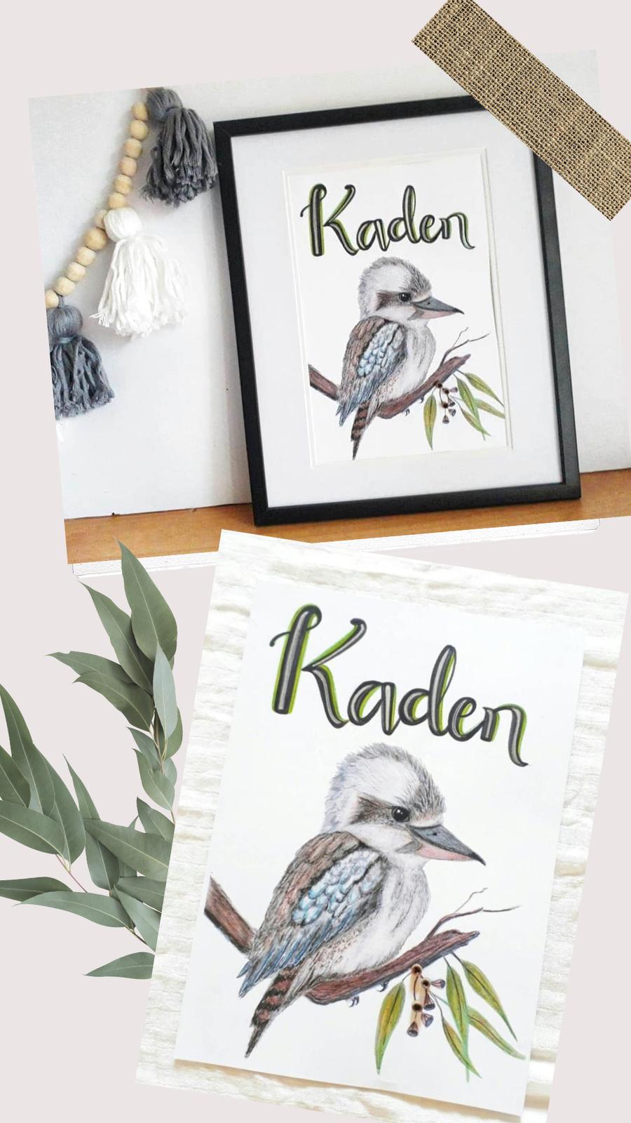 Personalised Kookaburra