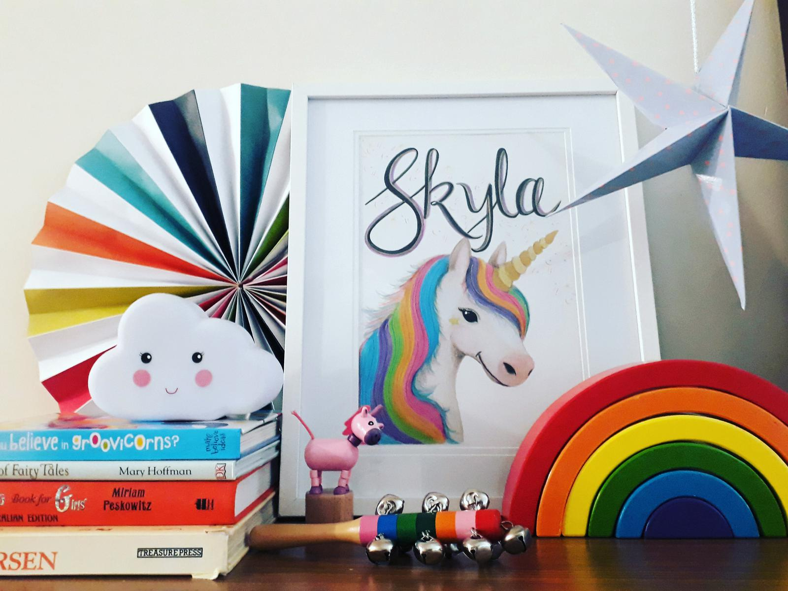 Personalised Unicorn Framed