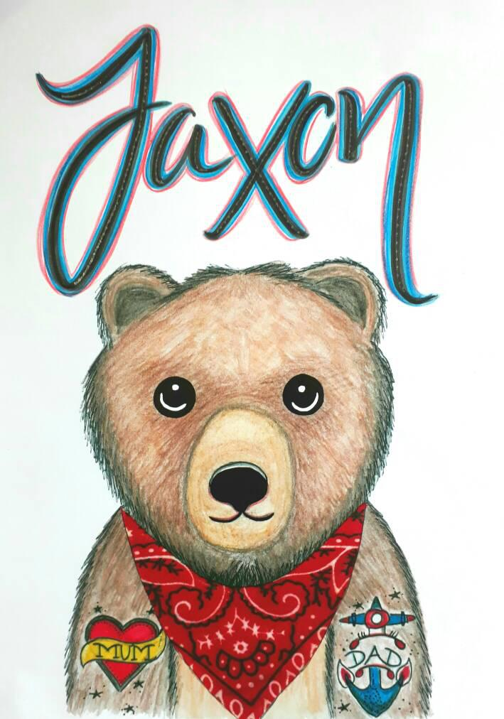 Personalised Tattooed Bear