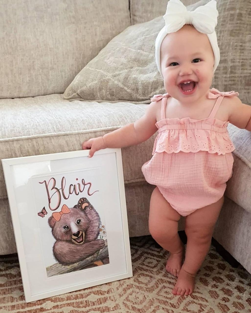 Personalised Girlie Bear