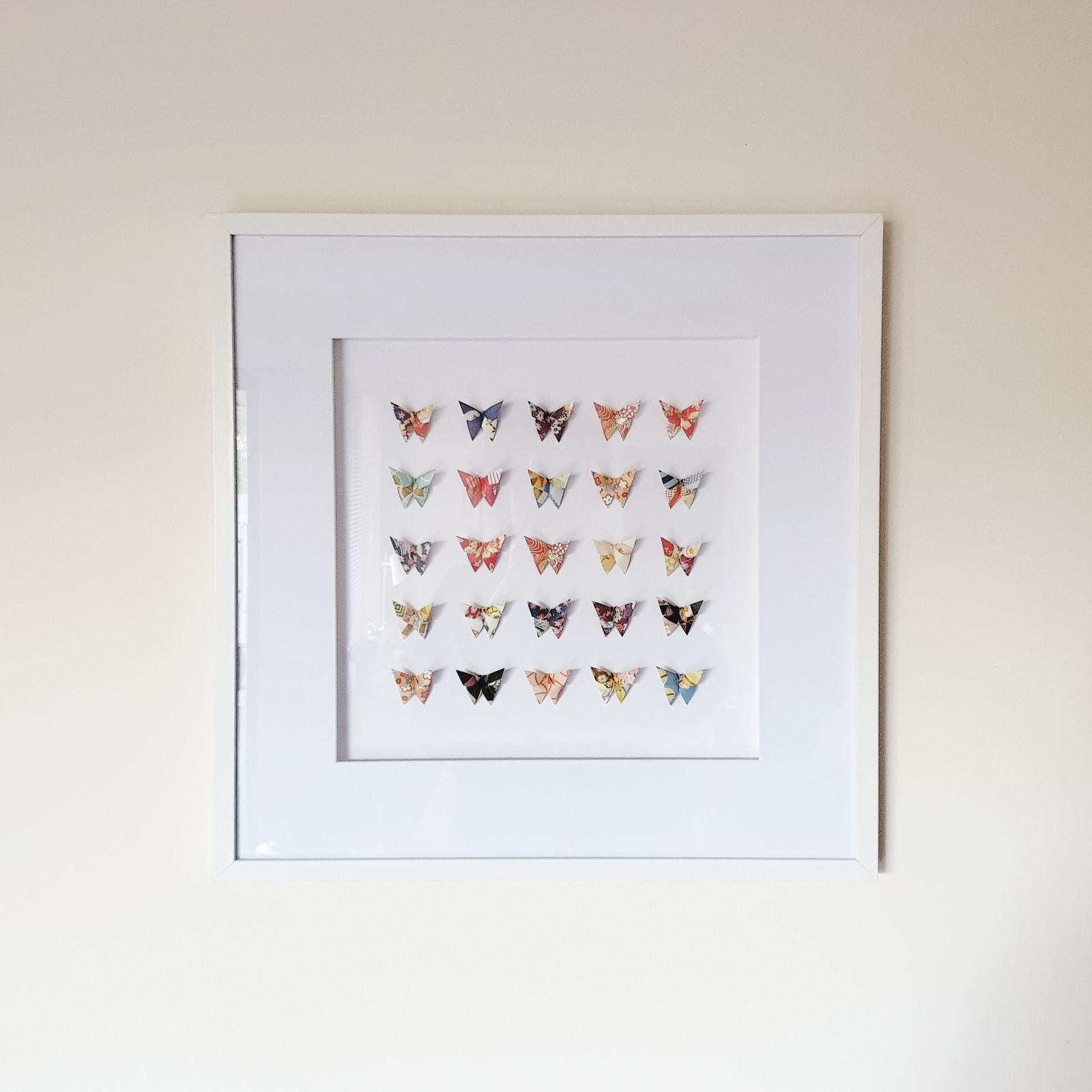 Framed Handmade Origami