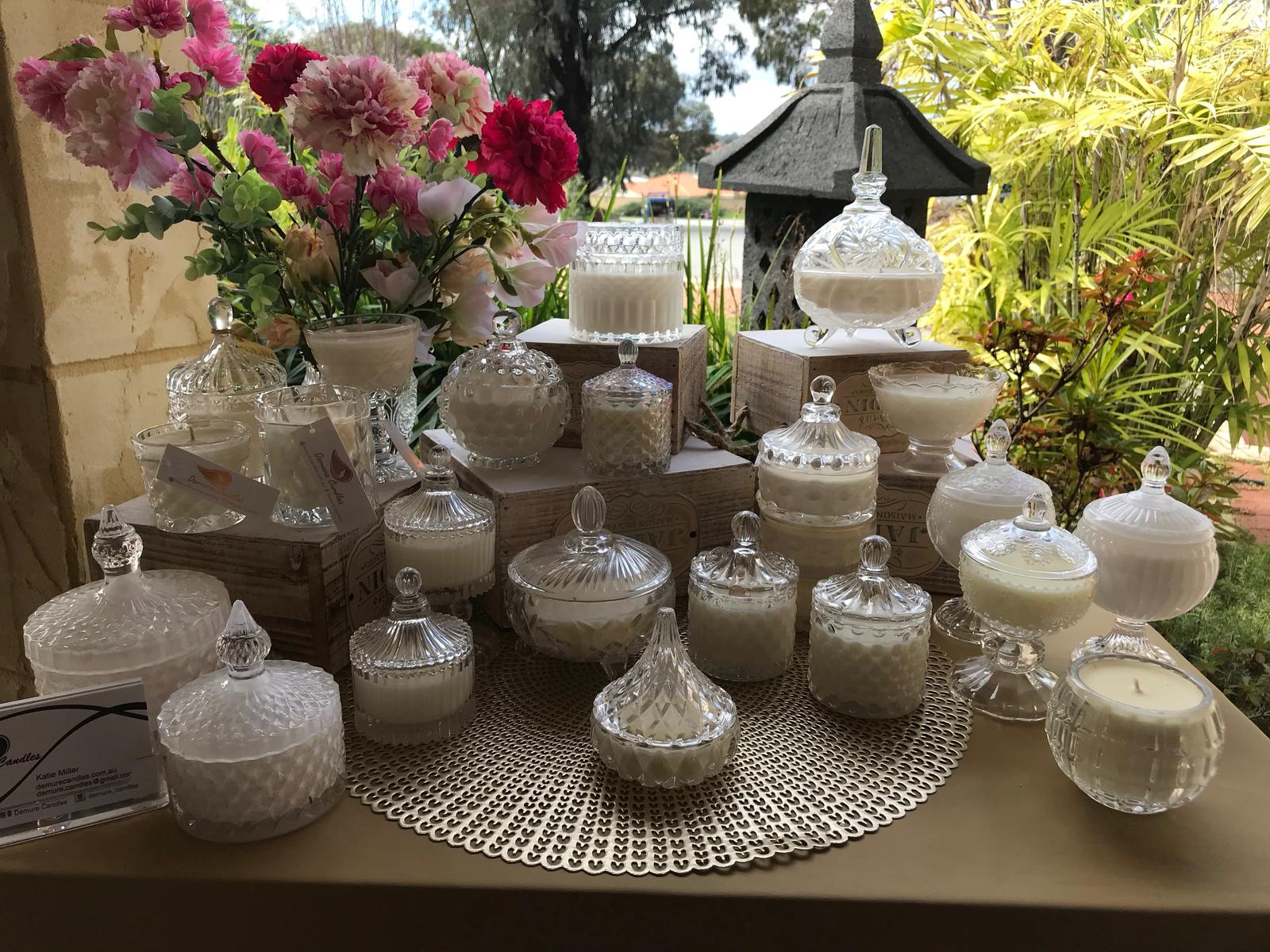 Lidded Candle Range