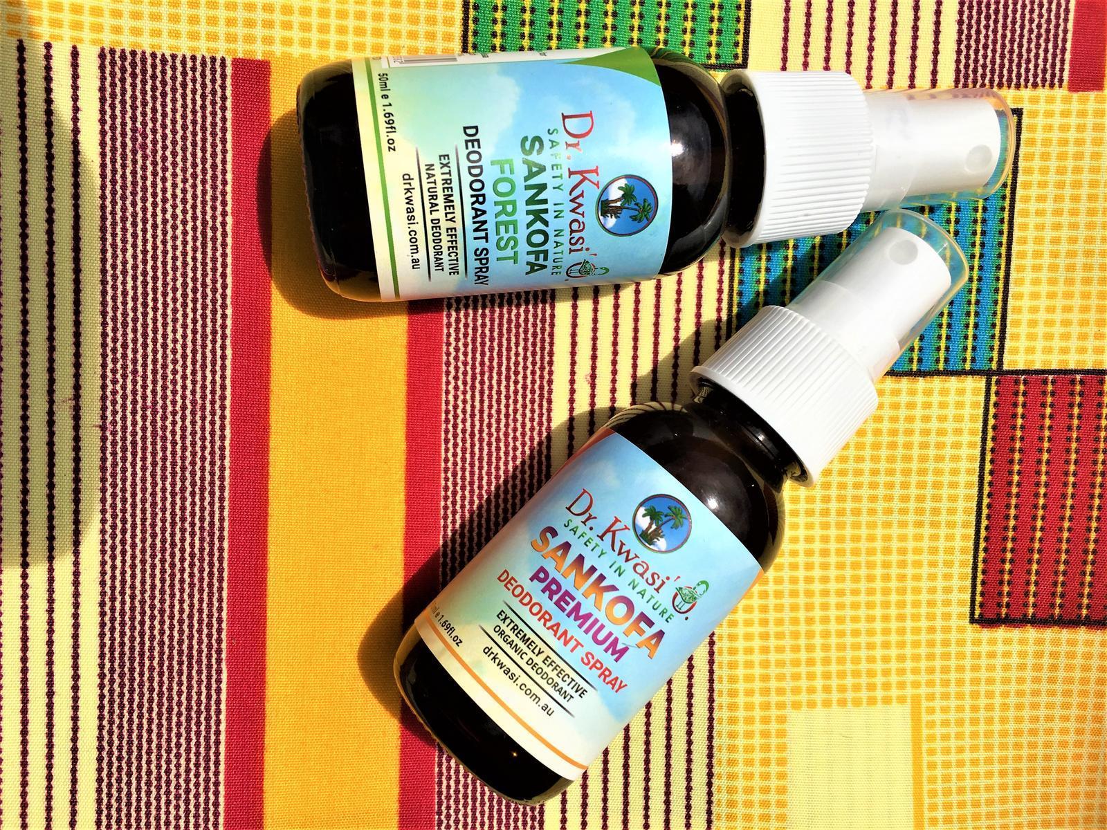 Sankofa Premium Organic & Sankofa Forest Natural Deodorant Spray