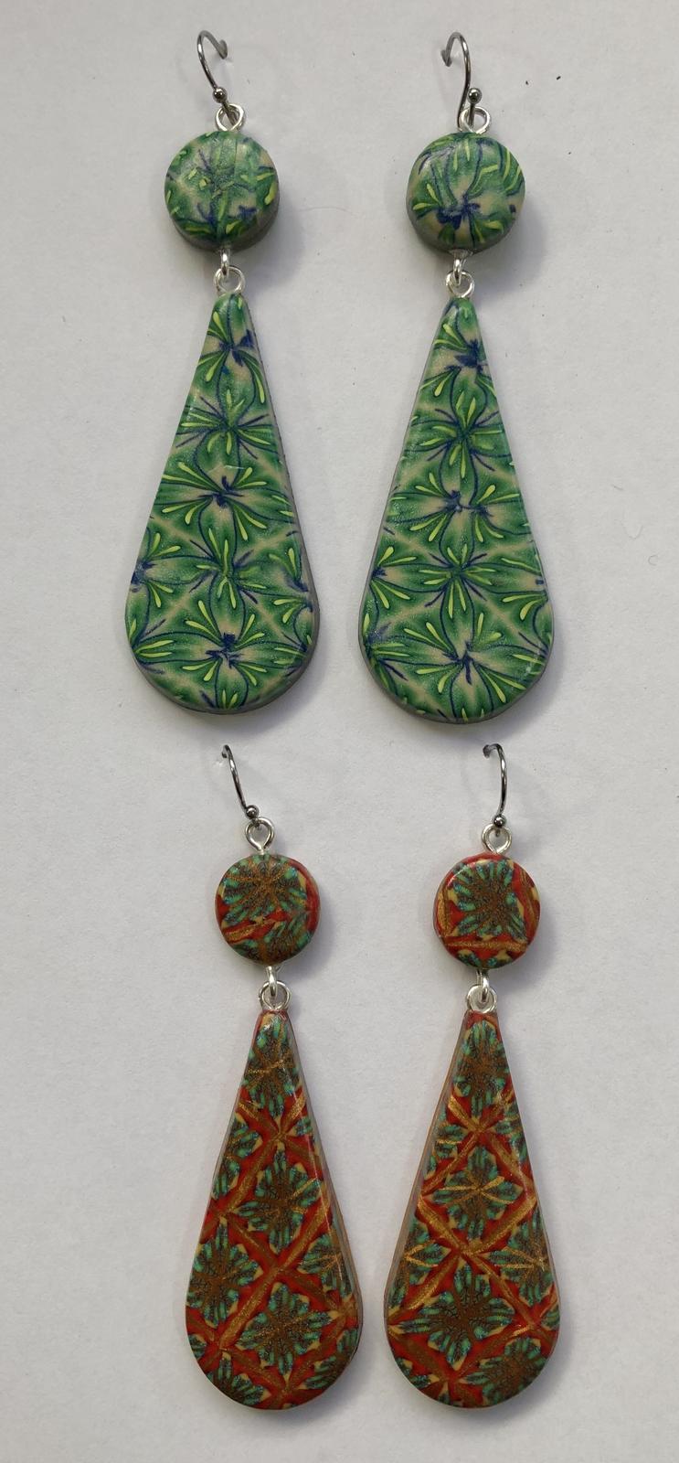 Geometric Weave drop earrings