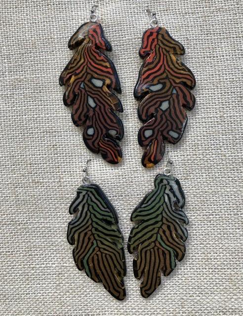 Jungle Leaves drop earrings