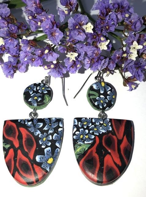 Desert Peas drop earrings
