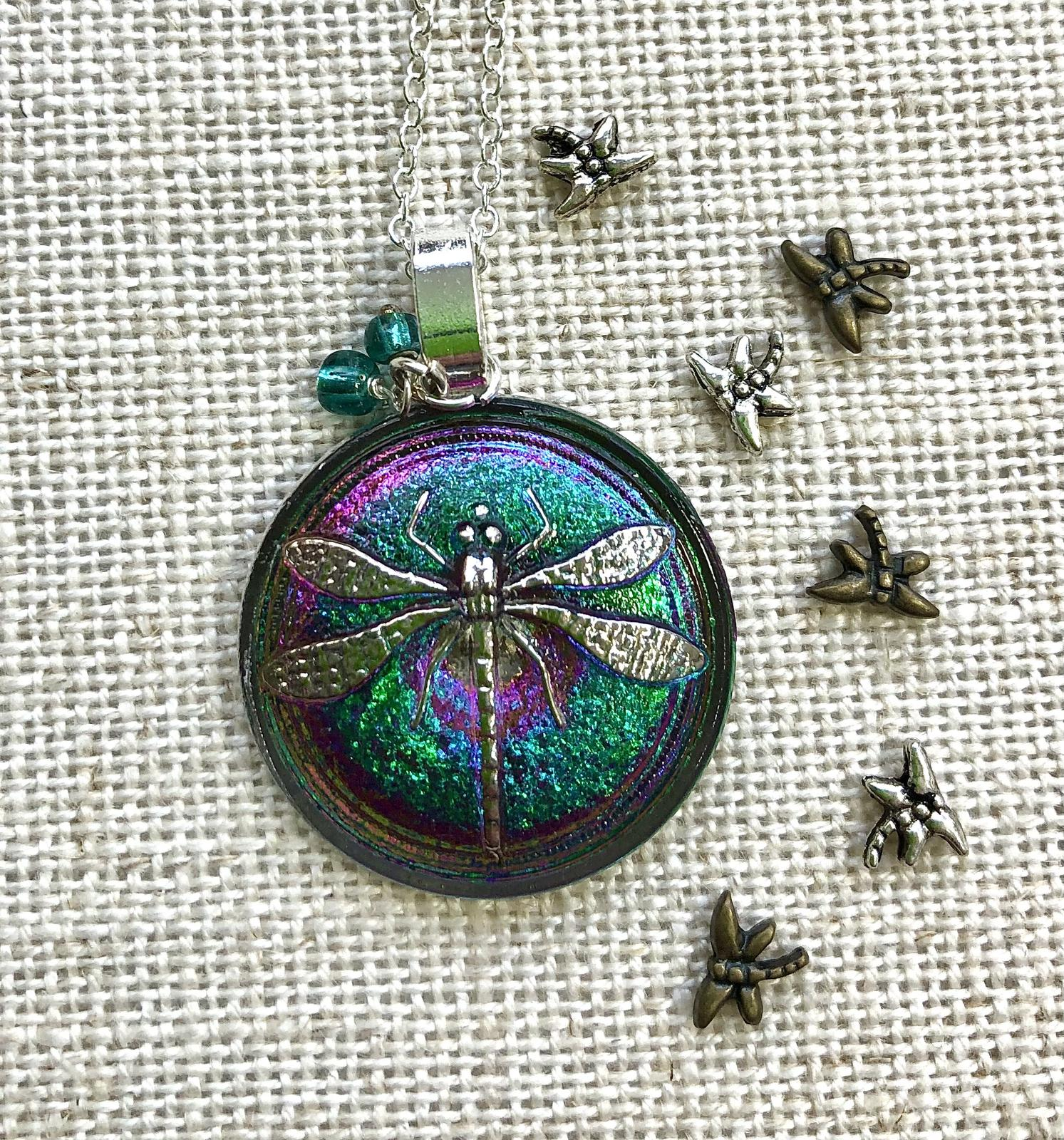 Dragonfly in Glass pendant