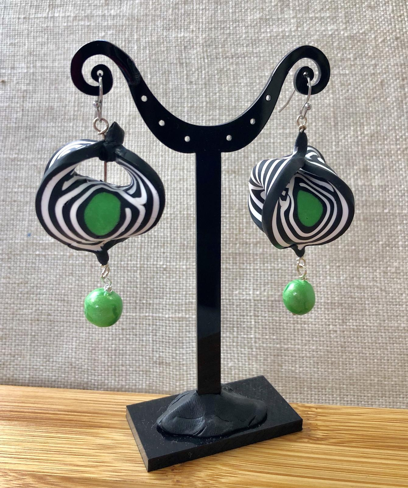 Double Twist drop earrings