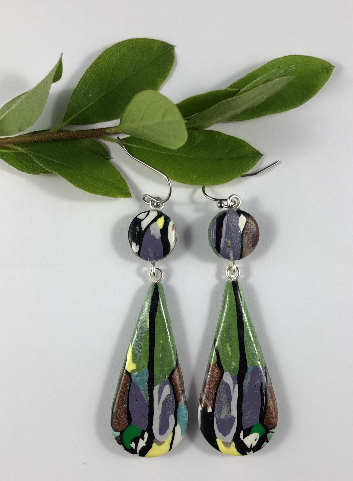 Reflecting Images drop earrings