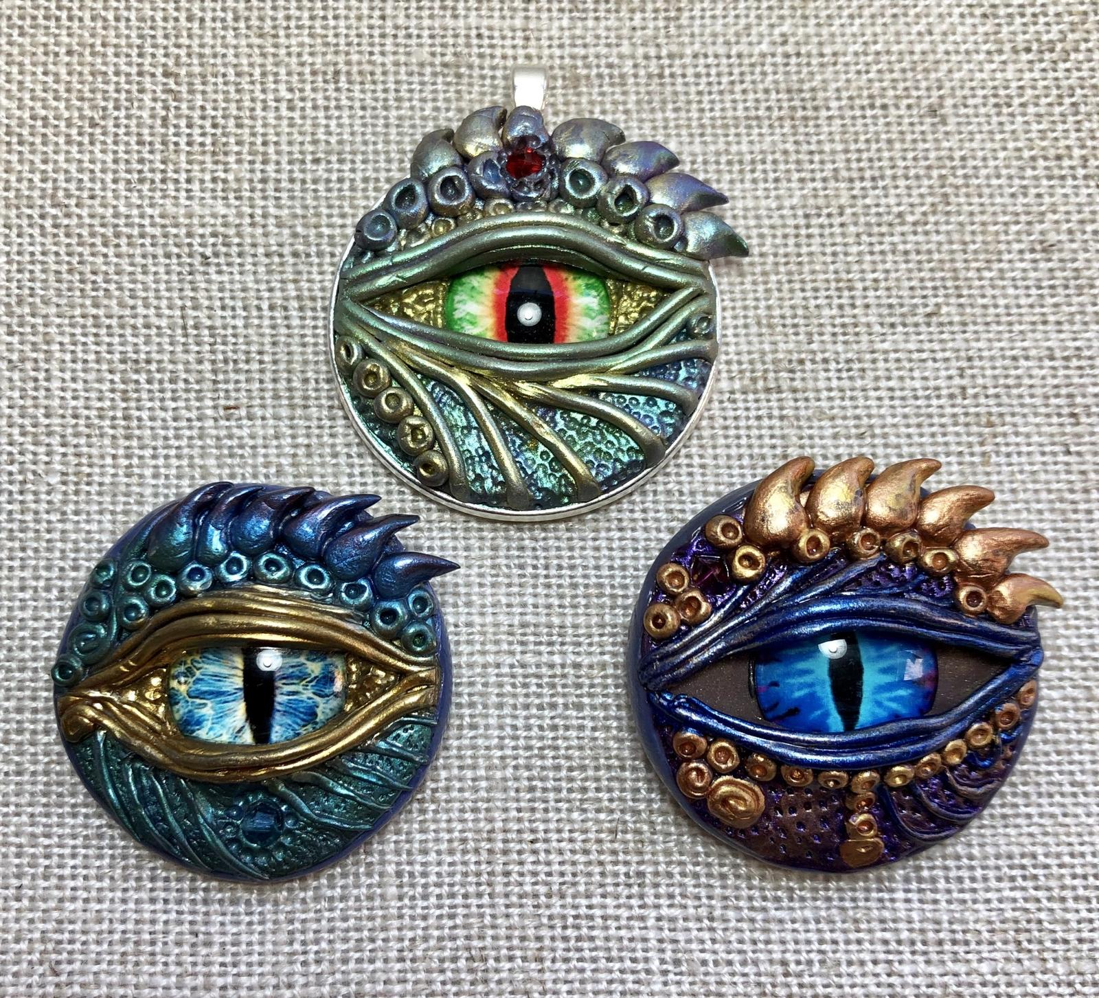 Here be Dragons pendants 30mm