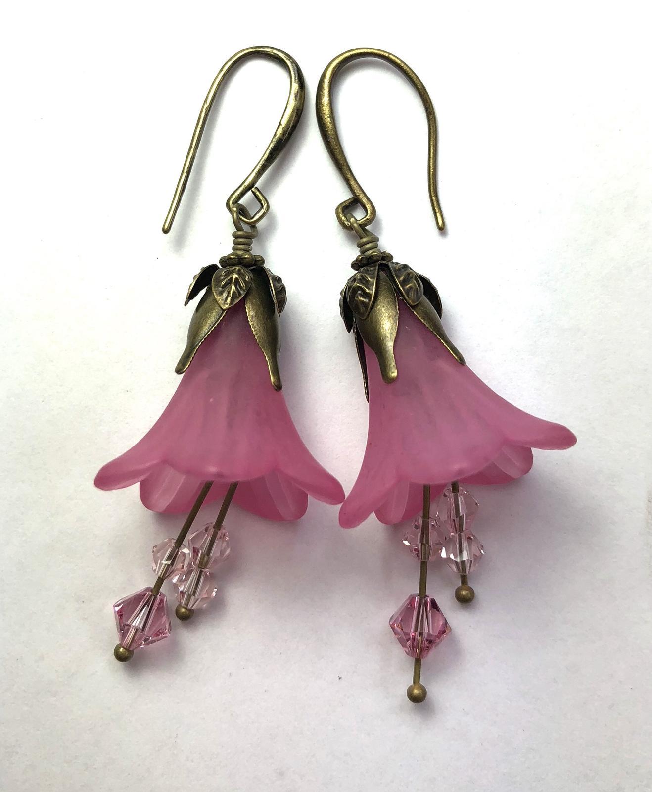 Crystal Blooms drop earrings