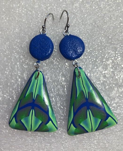 Blue Line drop earrings