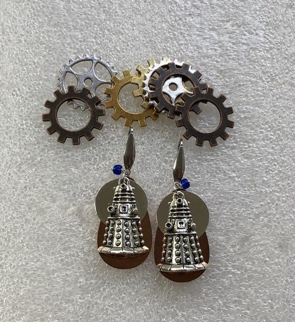 Exterminate! drop earrings