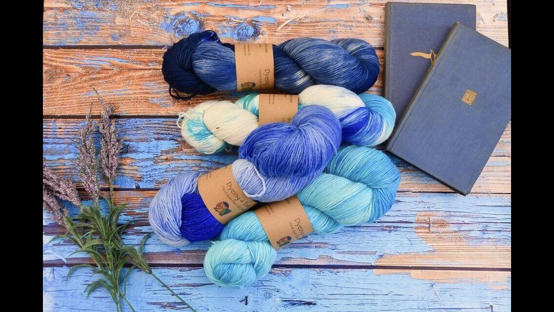 Blue yarns