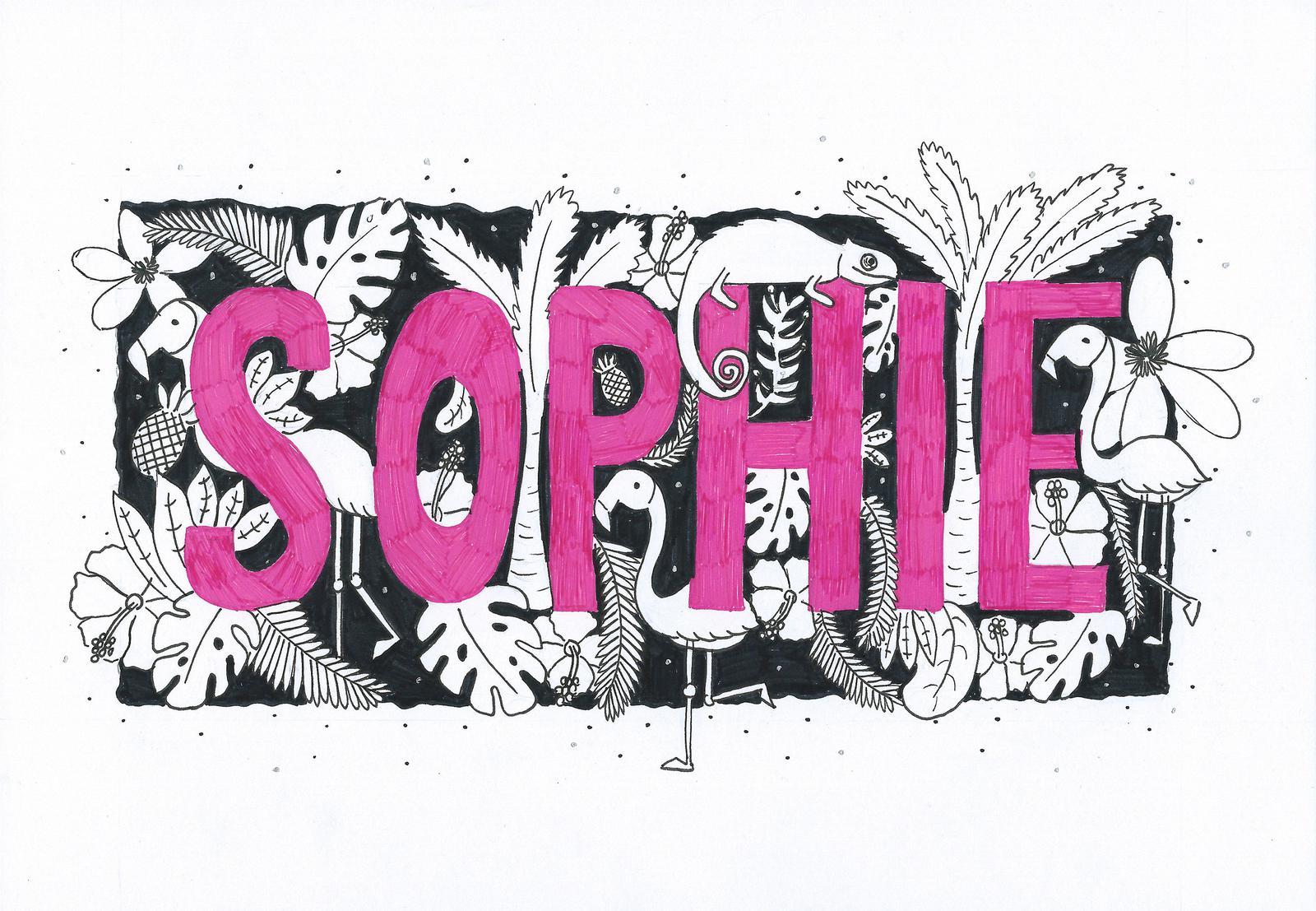 Custom Typographic Print - Sophie