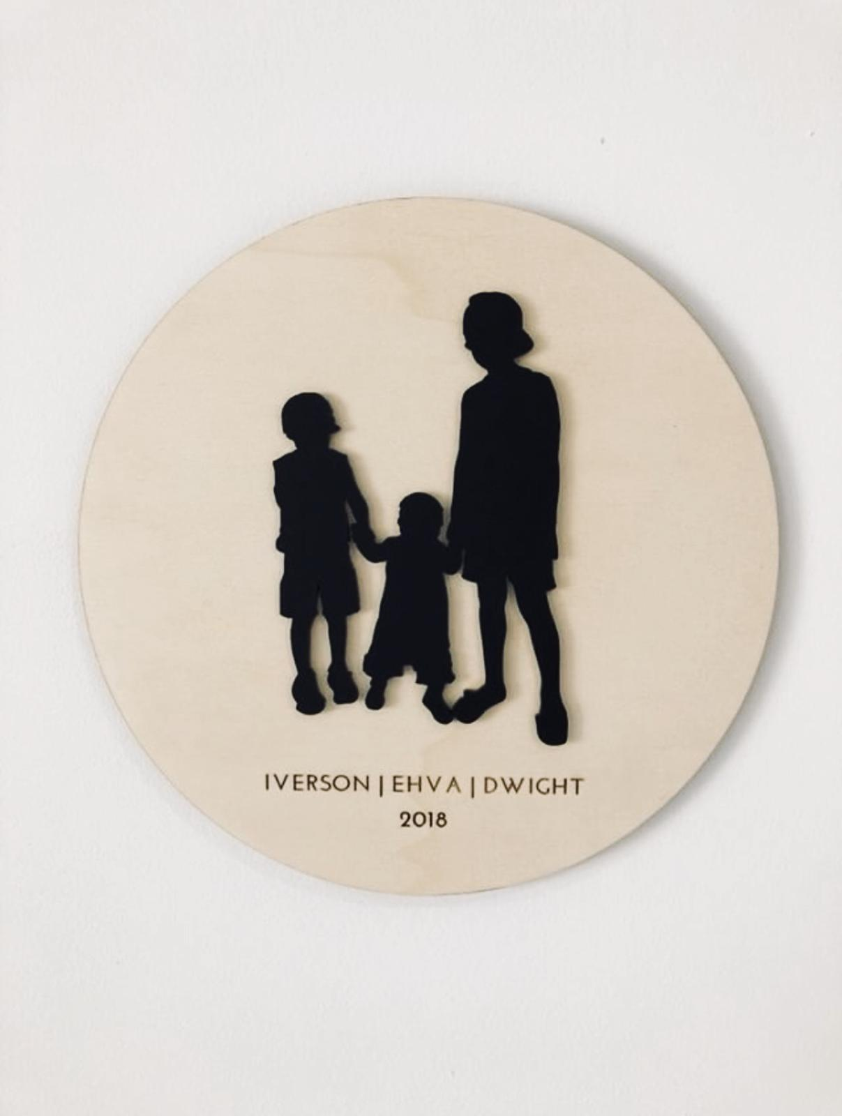 SILHOUETTE WALL PLAQUE