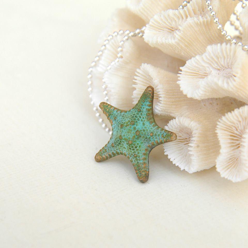 Bronze Starfish Necklace