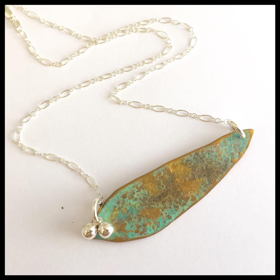 Bronze Gumleaf Necklace