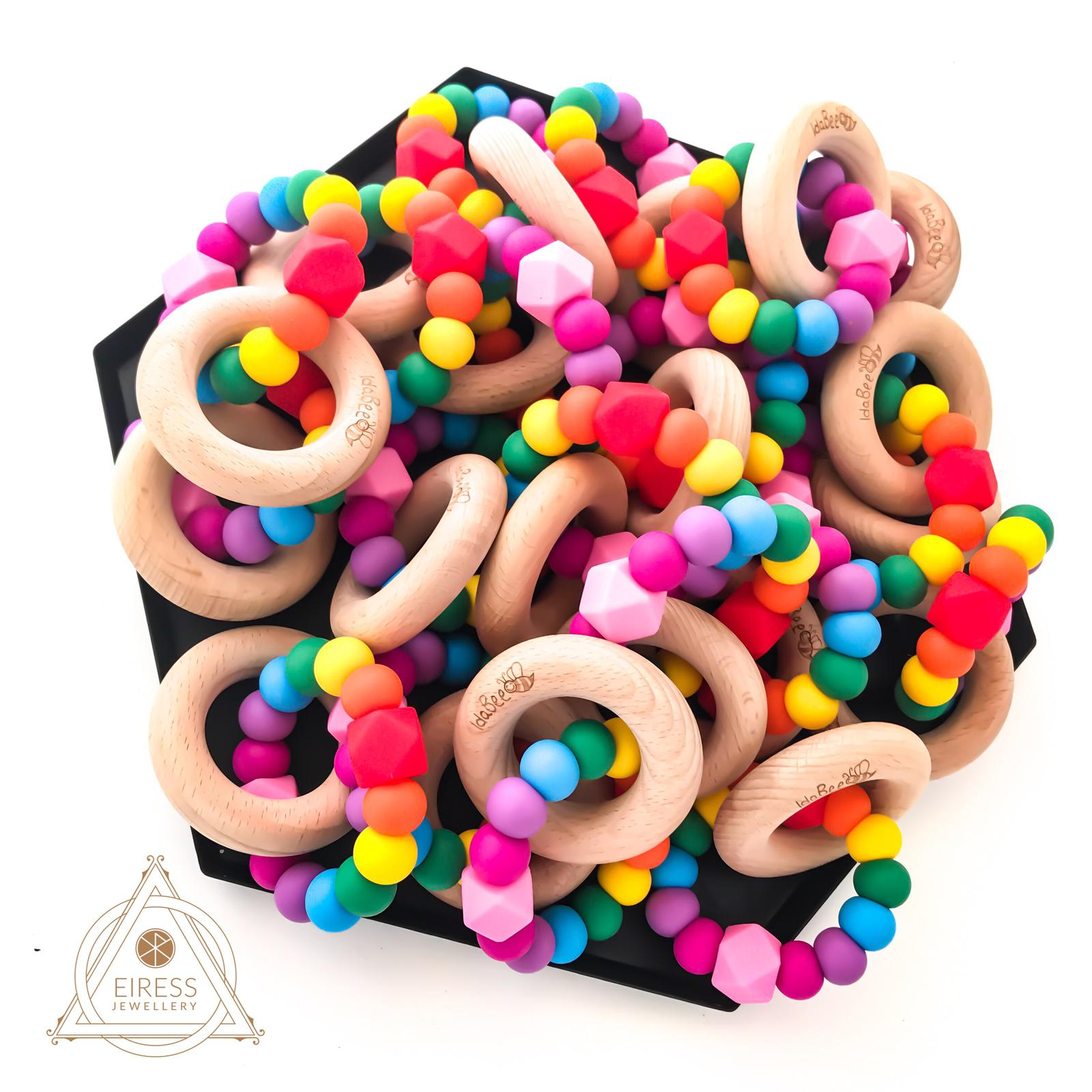 IdaBee Ellipse Rainbow Teethers
