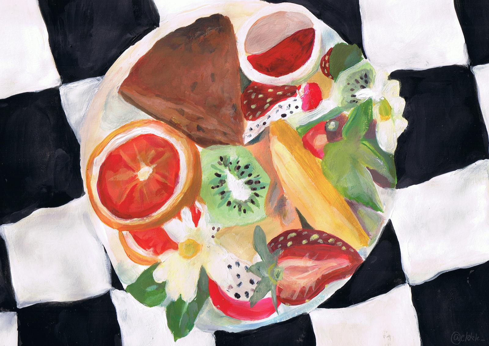 The Fruit and Cake print