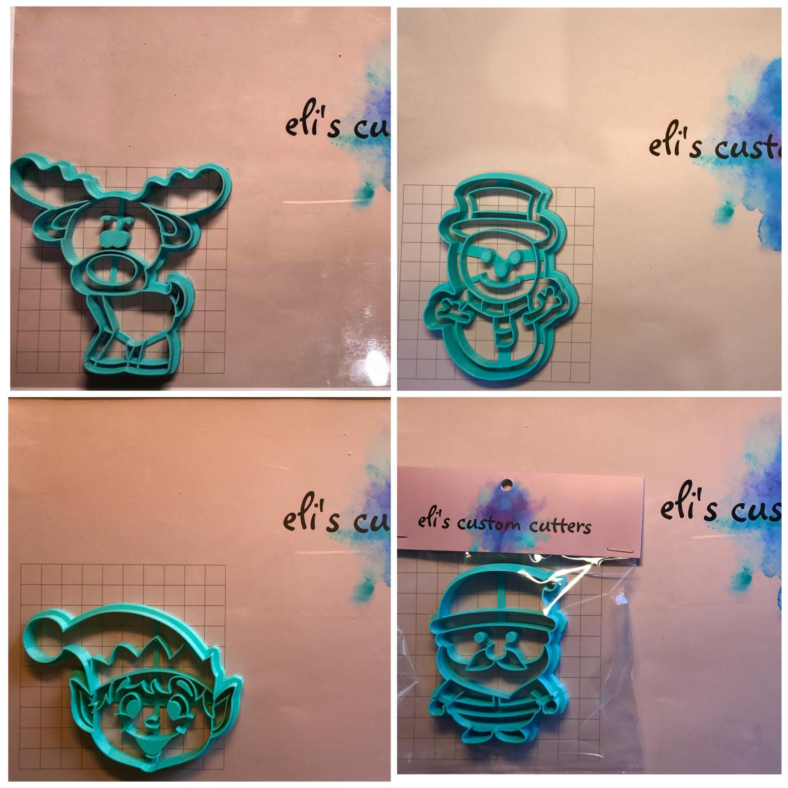A range of Christmas cookie cutters