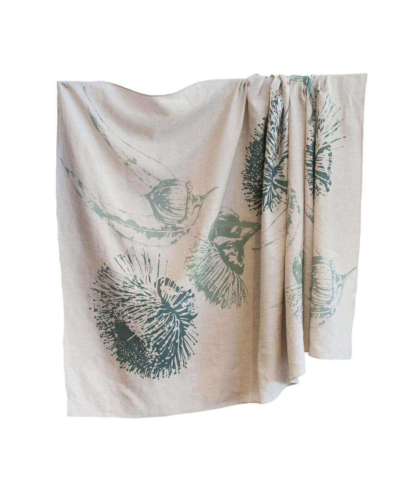 Tablecloth- Mallee Blossom in Eucalyptus Blue