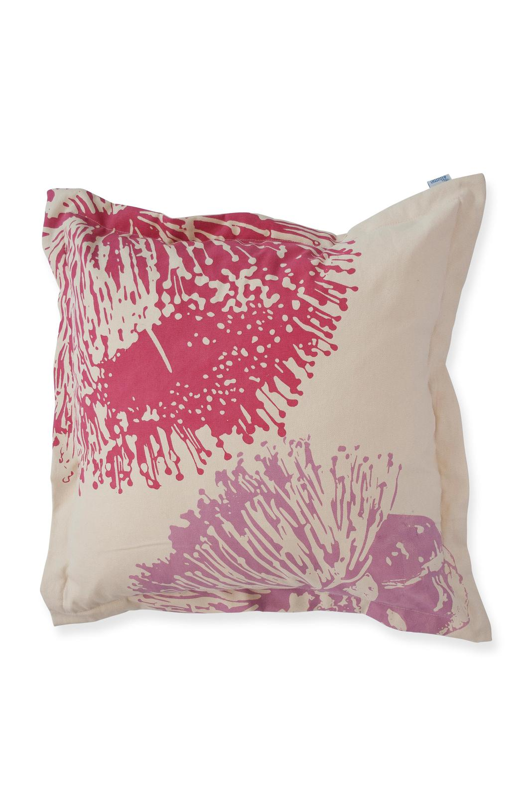 50cm Cushion 'Mallee Blossom' in Fuchsia & Lilac with flange
