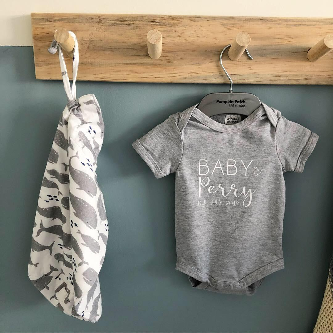 Personalised Baby Announcement Vest