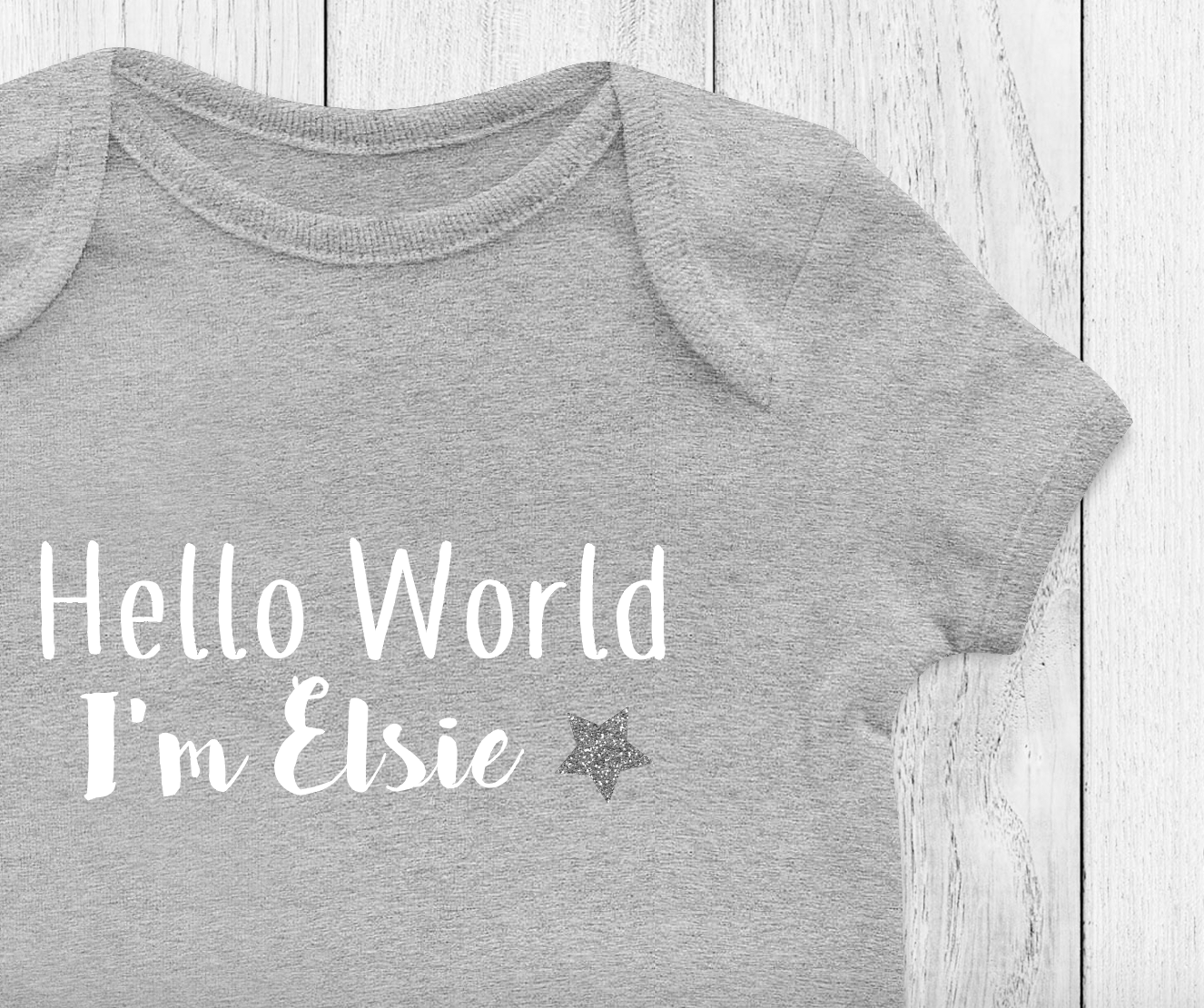 Hello World Personalised Baby Announcement Vest