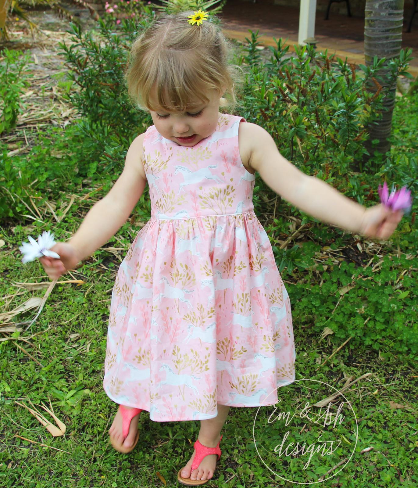 Pink Unicorn Tea Party Dress