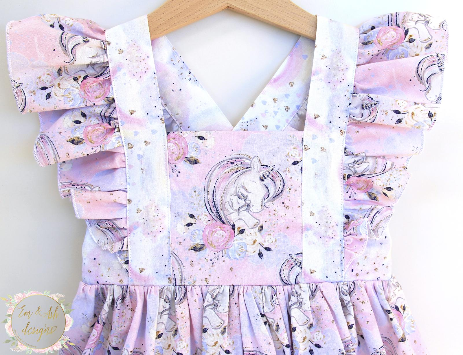 Pastel flutter unicorn dress